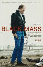 Johnny Depp Signed Black Mass 11x17 Movie Poster Jsa Coa L87296