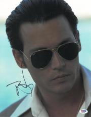 Johnny Depp Signed Donnie Brasco Authentic 11x14 Photo PSA/DNA #Q29934