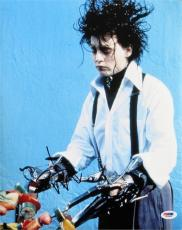 Johnny Depp Signed Edward Scissorhands Authentic 11x14 Photo PSA/DNA #J03953