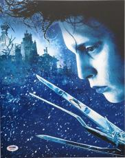 Johnny Depp Signed Edward Scissorhands Authentic 11x14 Photo (PSA/DNA) #Q29939