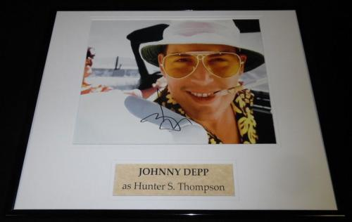 Johnny Depp Signed Framed 16x20 Photo Display AW Fear & Loathing in Las Vegas