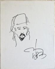 JOHNNY DEPP SIGNED & HAND DRAWN JACK SPARROW PIRATES 11x14 SKETCH JSA COA Y25126