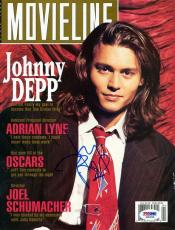 Johnny Depp Signed Movieline Magazine Cover PSA/DNA #J00290
