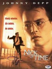 Johnny Depp Signed Nick Of Time 9X12 Program PSA/DNA #I81984