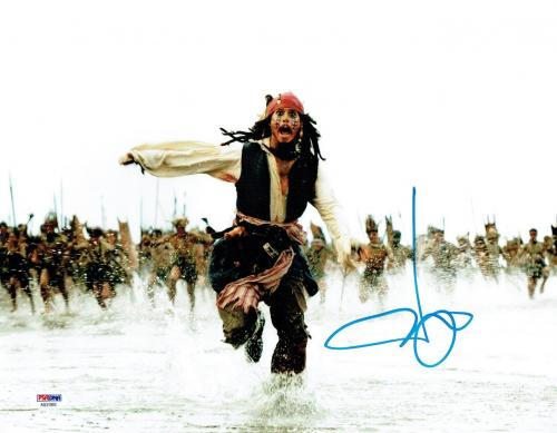 Johnny Depp Signed Pirates Authentic Autographed 11x14 Photo PSA/DNA #AB31993