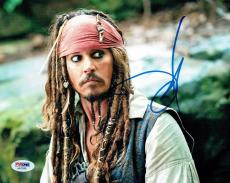 Johnny Depp Signed Pirates Authentic Autographed 8x10 Photo PSA/DNA #AA78398