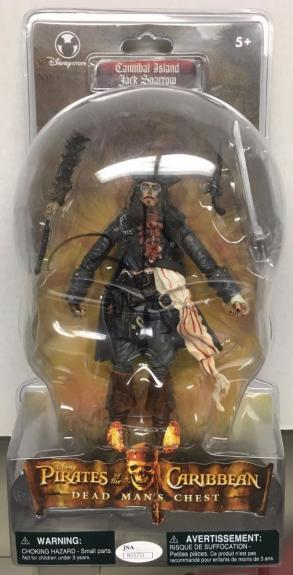 JOHNNY DEPP signed Pirates of Caribean Capt. Jack Sparrow action figure-JSA