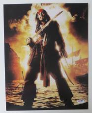 Johnny Depp Signed Pirates of the Caribbean 11x14 Photo (PSA/DNA) #I86534