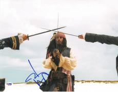 Johnny Depp Signed Pirates of the Caribbean 11x14 Photo (PSA/DNA) #I86540