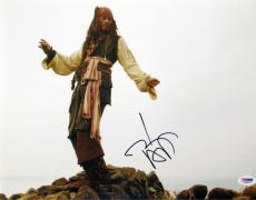 Johnny Depp Signed Pirates of the Caribbean 11x14 Photo (PSA/DNA) #J03947