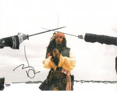 Johnny Depp Signed Pirates of the Caribbean 11x14 Photo (PSA/DNA) #Q29937