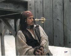 Johnny Depp Signed Pirates of the Caribbean 11x14 Photo (PSA/DNA) #Q29944