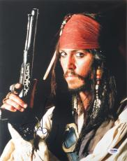 Johnny Depp Signed Pirates of the Caribbean 11x14 Photo (PSA/DNA) #Q29952