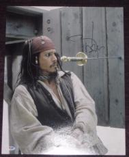 JOHNNY DEPP Signed PIRATES OF THE CARIBBEAN 16 x 20 PHOTO with PSA COA