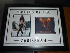Johnny Depp Signed Pirates of the Caribbean 8x10 Photo Framed Display PSA COA