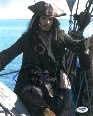 Johnny Depp Signed Pirates of the Caribbean 8x10 Photo (PSA/DNA) #C51812