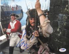 Johnny Depp Signed Pirates of the Caribbean 8x10 Photo (PSA/DNA) #I72547