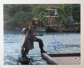 Johnny Depp Signed Pirates of the Caribbean Authentic 11x14 Photo PSA/DNA J03944