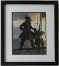 Johnny Depp Signed Pirates of the Caribbean Framed 8x10 Photo PSA/DNA #V08246