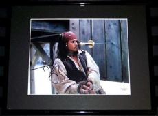 BEST DEAL EVER Johnny Depp Signed Pirates of the Caribbean Framed  Photo JSA COA