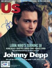 Johnny Depp Signed Us Magazine Cover Autographed PSA/DNA #J00289