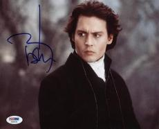 Johnny Depp Sleepy Hollow Signed 8x10 Photo Psa/dna #x44431