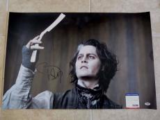 Johnny Depp Sweeney Todd MUSEUM PIECE Signed Autograph 20x30 Photo PSA Certified