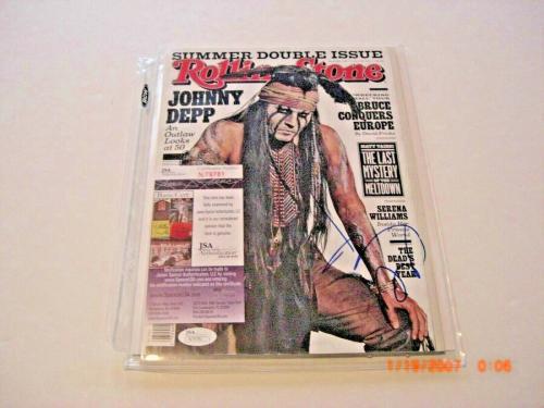 Johnny Depp The Lone Ranger Actor Jsa/coa Signed Rolling Stone Magazine
