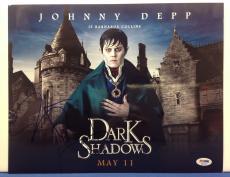 Johnny Depp & Tim Burton Signed Dark Shadows 11x14 Photo PSA Cert# S43023