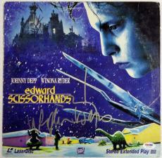Johnny Depp & Winona Ryder Dual Signed Edward Scissorhands Laser Disc PSA/DNA