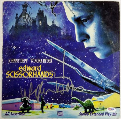 Johnny Depp & Winona Ryder Dual Signed Edward Scissorhands Laser Disc PSA/DNA