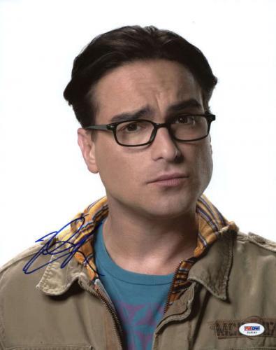 Johnny Galecki Big Bang Theory Signed 11X14 Photo PSA/DNA #T18140