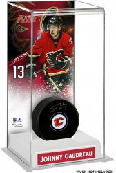Johnny Gaudreau Calgary Flames Deluxe Tall Hockey Puck Case
