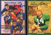 JOHNNY LATTNER+JOHNNY LUJACK HAND SIGNED 4x6 POSTCARDS+COA    NOTRE DAME HEISMAN