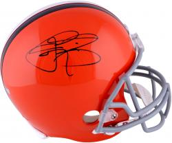 Johnny Manziel Cleveland Browns Autographed Orange Full-Size Riddell Replica Helmet