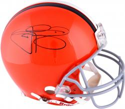 Johnny Manziel Cleveland Browns Autographed Riddell Revolution Authentic Orange Pro Helmet