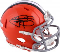Johnny Manziel Cleveland Browns Autographed Riddell Speed Mini Helmet