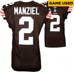 Johnny Manziel Cleveland Browns Brown Game-Used Jersey October 5, 2014 vs. Tennessee Titans