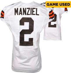 Johnny Manziel Cleveland Browns White Game-Used Jersey November 23, 2014 vs. Atlanta Falcons
