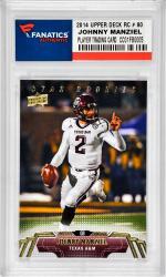 Johnny Manziel Texas A&M Aggies 2014 Upper Deck Star Rookie #80 Card - Mounted Memories  - Mounted Memories