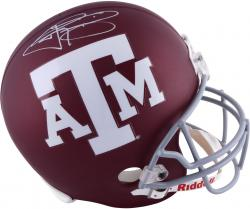 Johnny Manziel Texas A&M Aggies Autographed Maroon Full-Size Riddell Replica Helmet