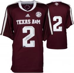 Johnny Manziel Texas A&M Aggies Autographed Maroon Jersey