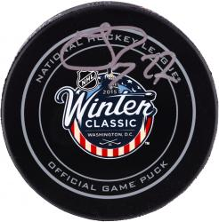 Johnny Oduya Chicago Blackhawks Autographed 2015 Winter Classic Official Game Puck