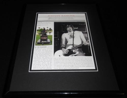 Johnny Ramone Framed 11x14 Photo Display The Ramones