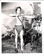 """JOHNNY SHEFFIELD as BOY in """"TARZAN"""" (Passed Away 2010) Signed 8x10 B/W Photo"""