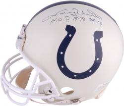 "Johnny Unitas Baltimore Colts Autographed Pro Line Helmet with ""H.O.F 1979 #19"" Inscription (PSA/DNA)"