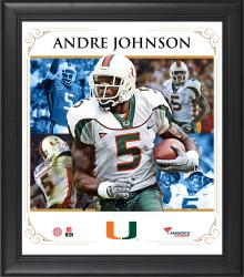 "Andre Johnson Miami Hurricanes Framed 15"" x 17"" Core Composite Photograph"