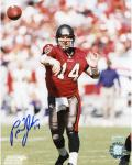 Brad Johnson Tampa Bay Buccaneers Autographed 8'' x 10'' After Throw Photograph