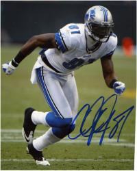 Calvin Johnson Detroit Lions Autographed 8'' x 10'' Action Pose Photograph - Mounted Memories