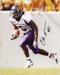 JOHNSON, CHRIS AUTO (ECU/SIDE VIEW/RUNNING/BALL) 8X10 PHOTO - Mounted Memories